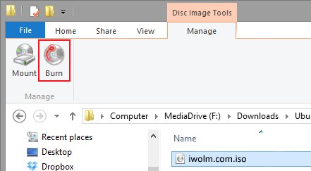 how to make a disc image files work windows 7