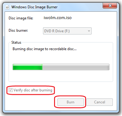 Windows Disk Image Burner